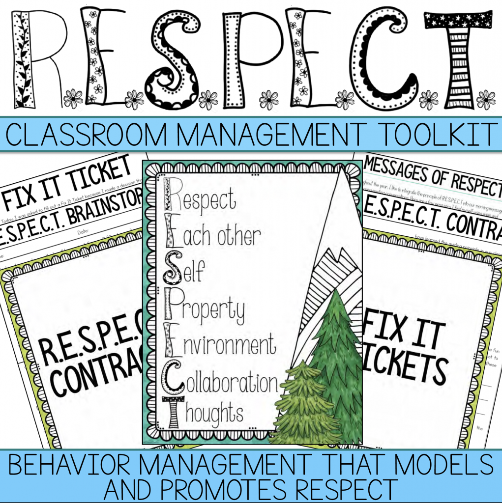 Cover of Core Inspiration's R.E.S.P.E.C.T. Classroom Behavior Management Tools for Social Emotional Learning