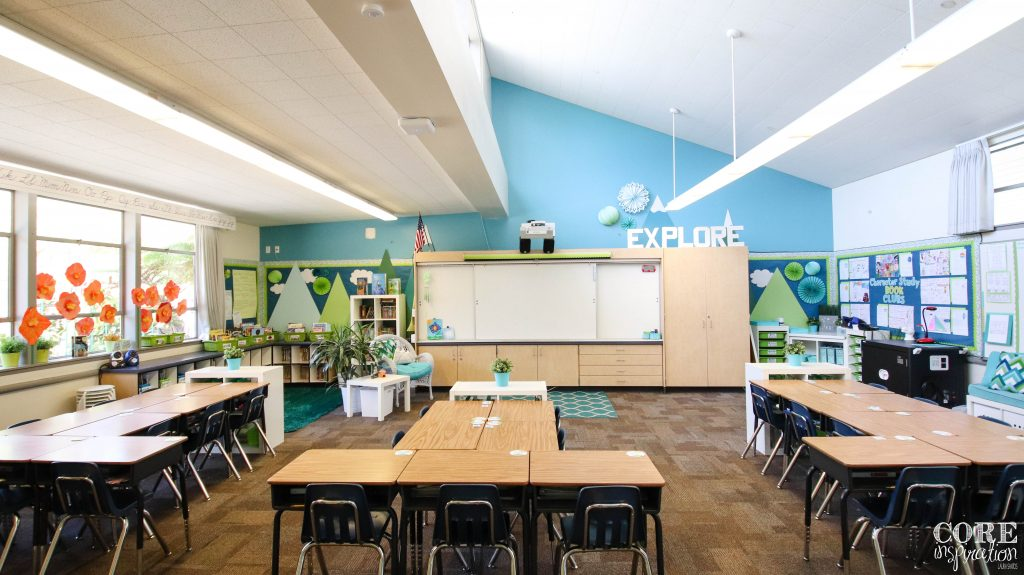 Core Inspiration classroom after students have completed their class jobs and tidy up.