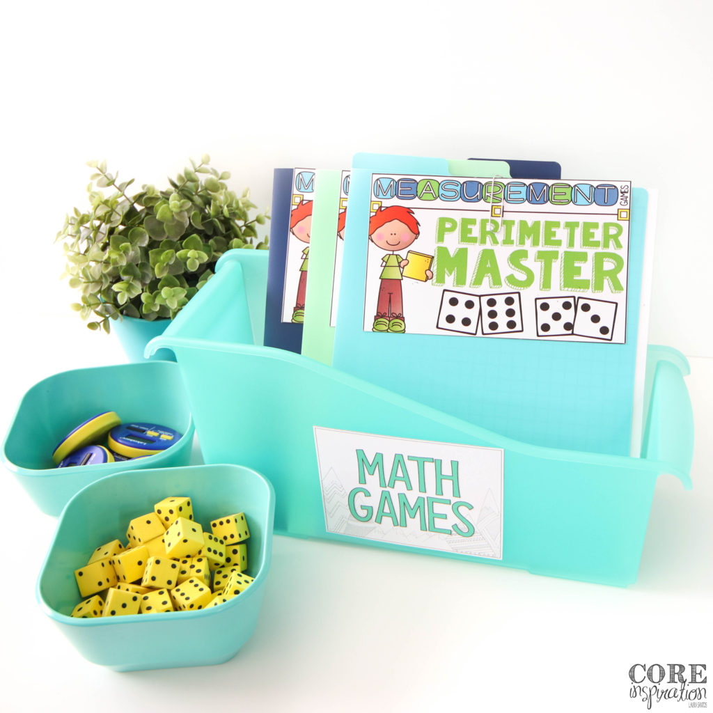 Keeping math game instruction cards in file folders helps elementary students grab what they need quickly. This magazine file helps to keep all the math game files neatly organized in one place.