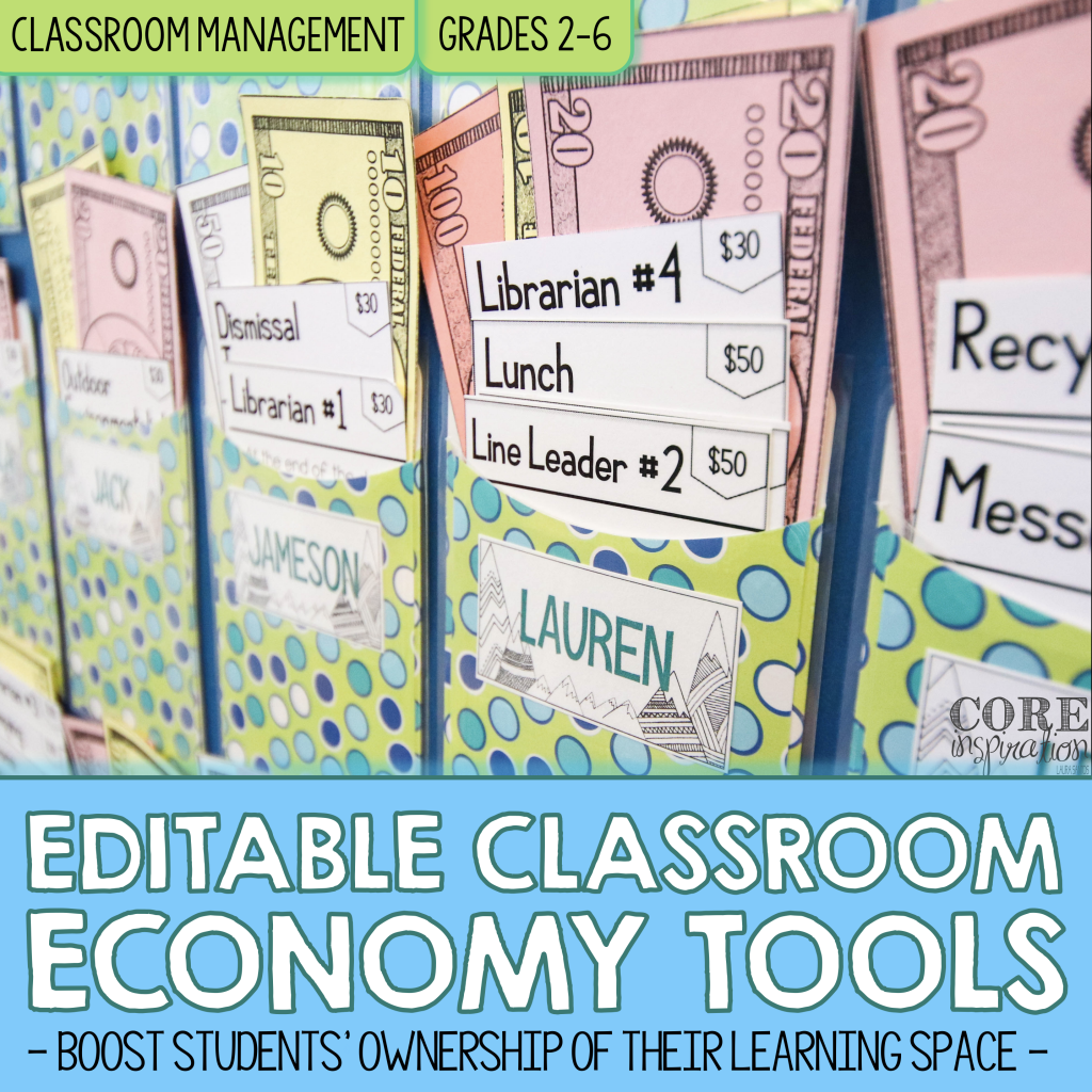 Cover Core Inspiration Editable Classroom Economy Toolkit