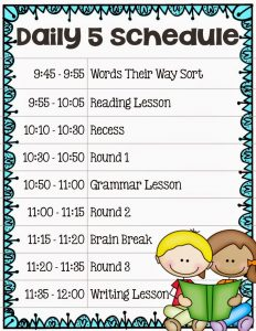 Our Daily 5 Schedule