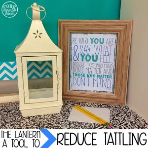 Reduce Tattling with The Lanetern