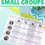 Learn how to use pre assessment data and student observations to create the most effective and efficient small groups for M.A.T.H. Workshop in your classroom. These strategies make differentiating math small groups quick and easy. Your math groups will be ready to rotate through games, technology, projects, task cards, and meet with the teacher rotations.