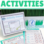 Five rigorous ideas for engaging students during math workshop at your seat rotation. Activity suggestions include computation checks, problem solving tasks, performance tasks, project based learning, and math journaling. All of these are great methods for building student independence and allow you to assess student understanding of math concepts.
