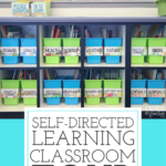 This is a perfect self-directed learning environment. Students can access all their learning supplies independently in this super organized classroom. Love the bright white colors, the space for flexible seating, and the way this room setup is so student-focused. You have to check out this tour.