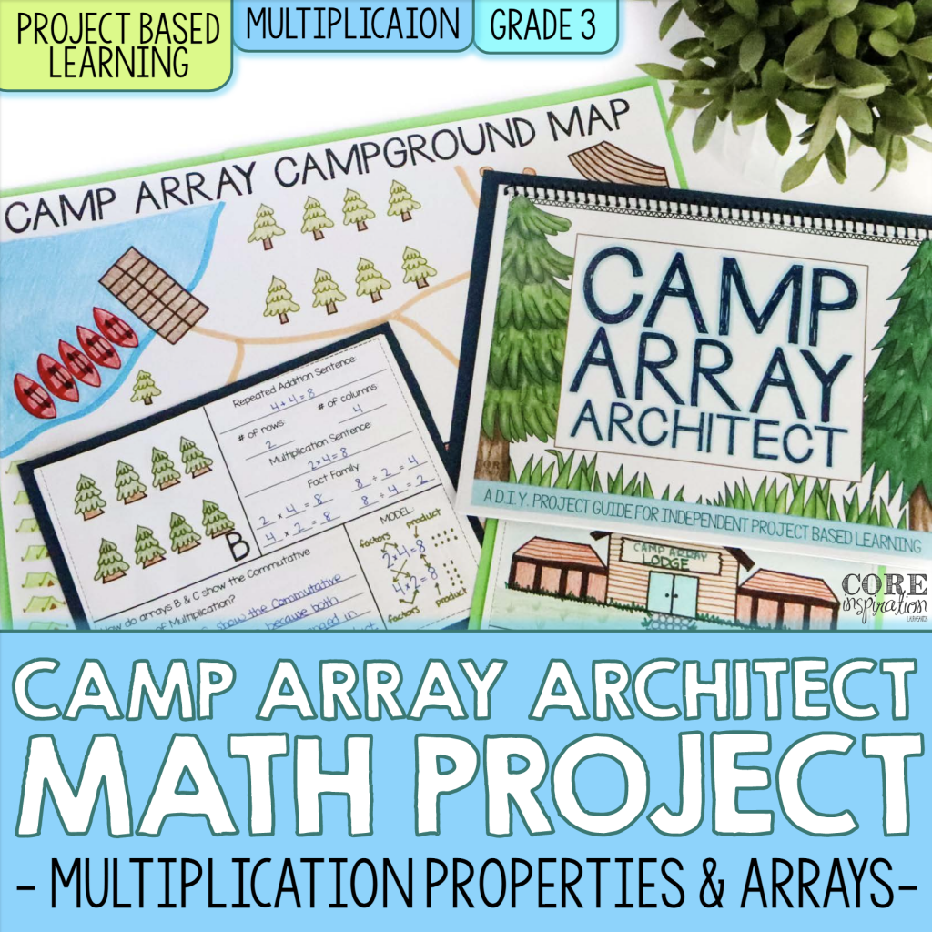 Cover for Multiplication and Arrays Math Project Cover