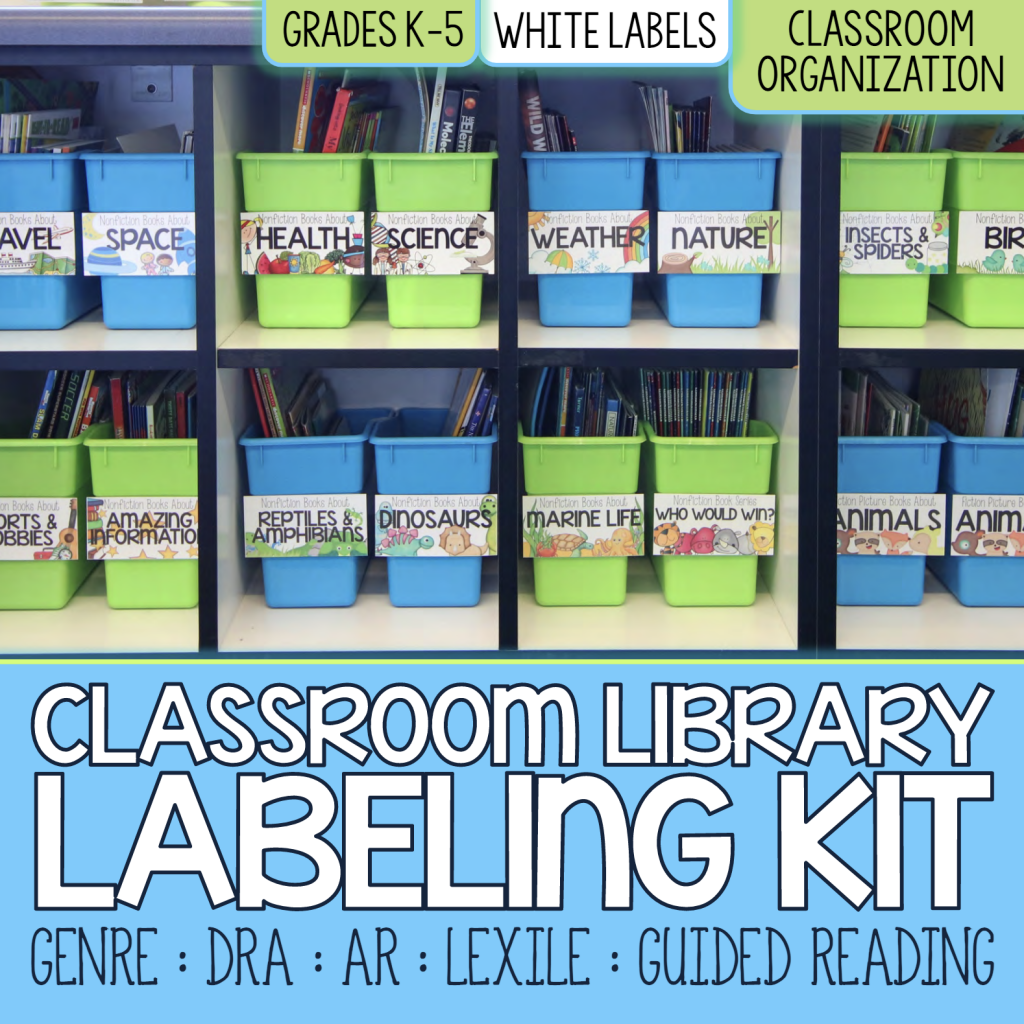 Core Inspiration Classroom Library Labeling Kit Cover