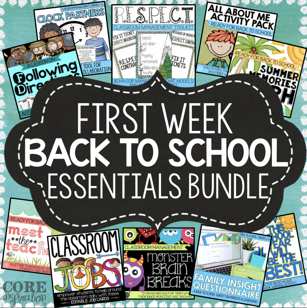 Core Inspiration First Weeks of School Resource Bundle Cover